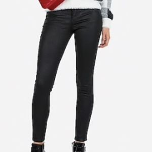 NWT Express Mid Rise Stretch Black Sparkle Jeans